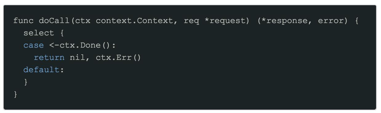 Context propagation code