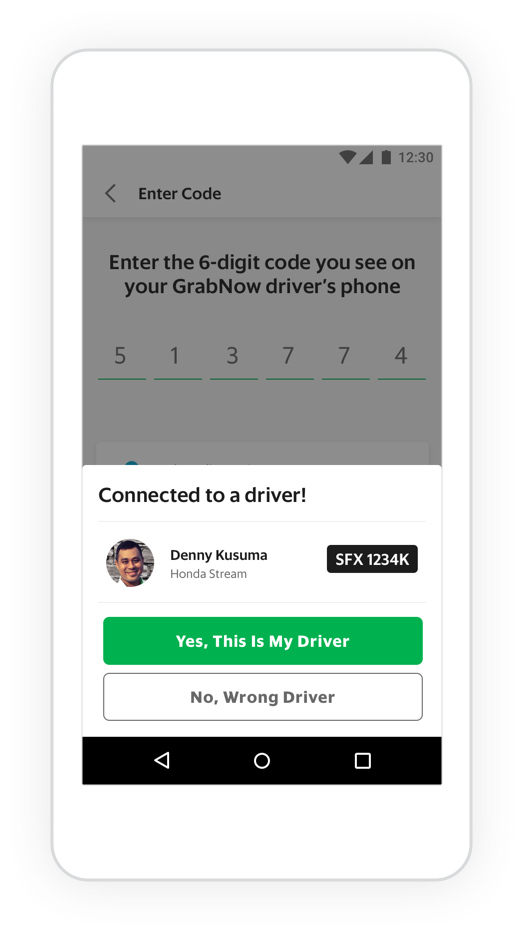 Offline to Online: GrabNow connecting with driver