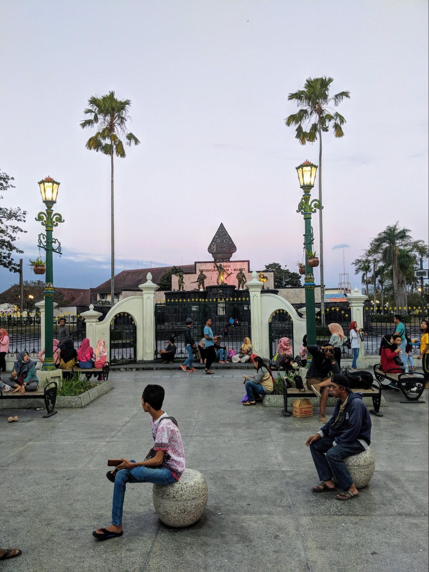Nightfall in Yogyakarta, Indonesia