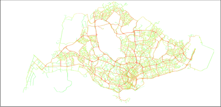 Figure 1b. GPS density (highways have more GPS)
