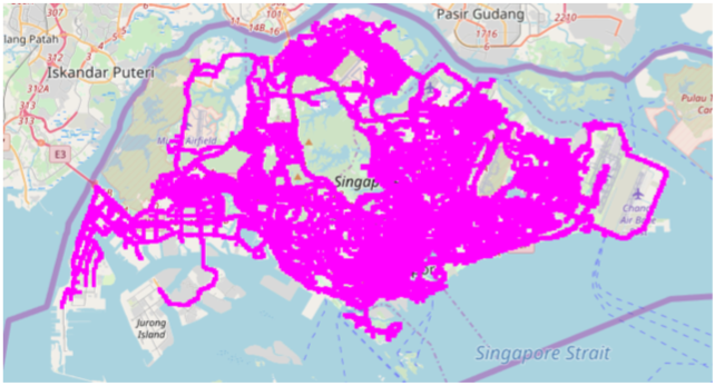 Figure 1a. Spatial coverage (Singapore)