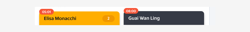 Timer in the minimised chat